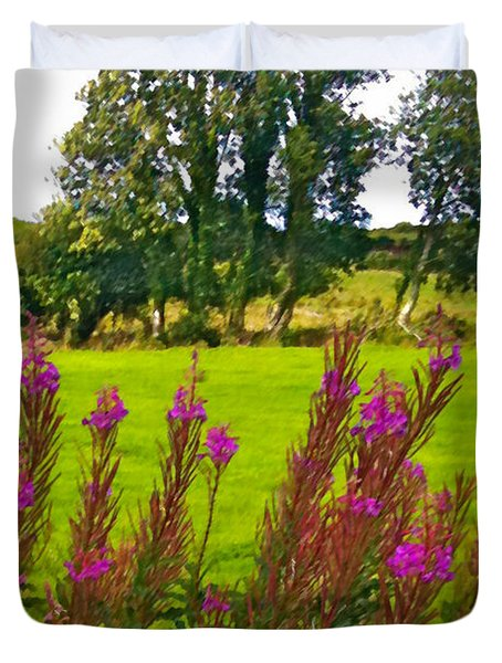 Lanna Fireweeds County Clare Ireland Duvet Cover