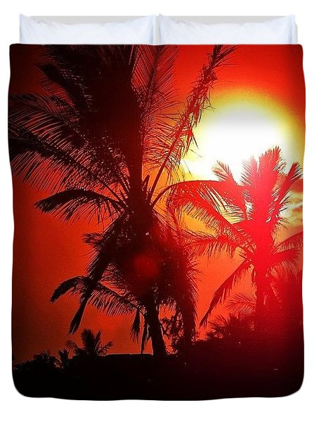 Lanzarote Dusk Duvet Cover