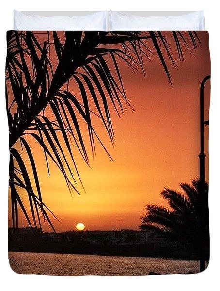 Lanzarote Sunset Duvet Cover