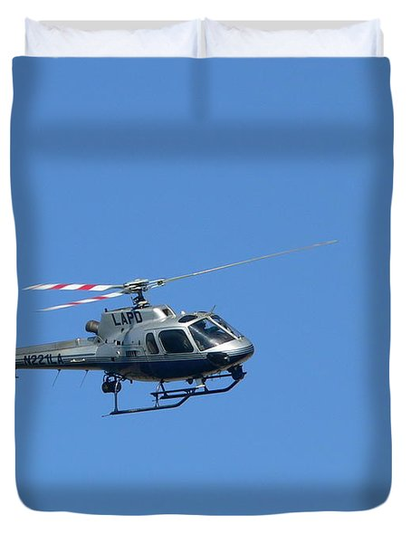 Lapd Helicopter Duvet Cover