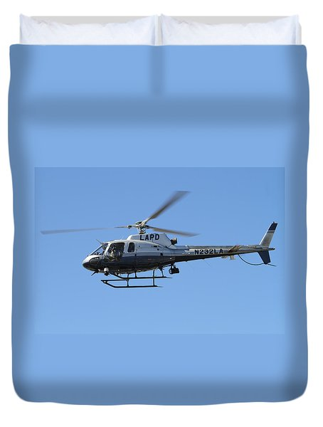 Lapd In Flight Duvet Cover
