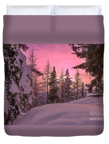 Lapland Sunset Duvet Cover