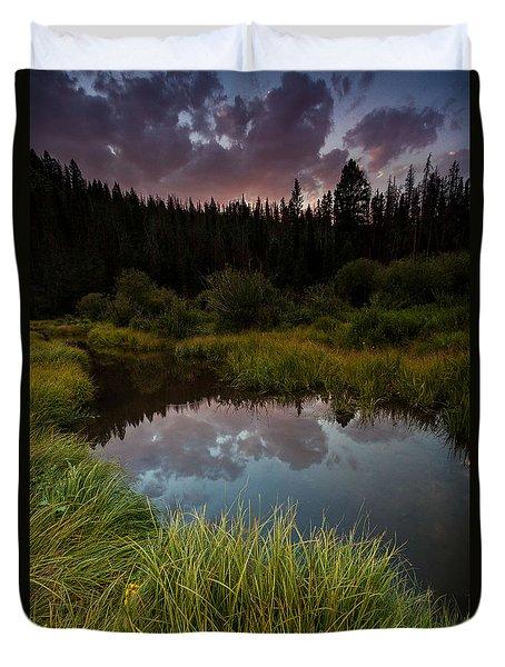 Laramie River Sunset Duvet Cover