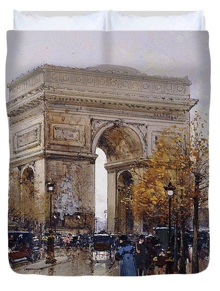 L'arc De Triomphe Paris Duvet Cover