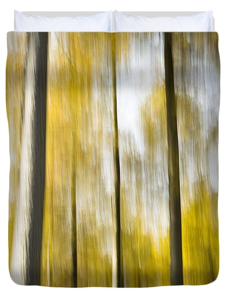 Larch In Abstract Duvet Cover by Anne Gilbert
