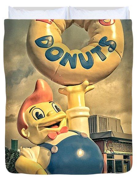 Lard Lad Donuts Duvet Cover