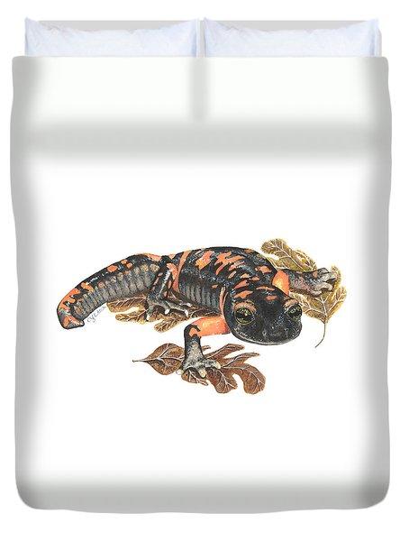 Large Blotched Salamander2 Duvet Cover