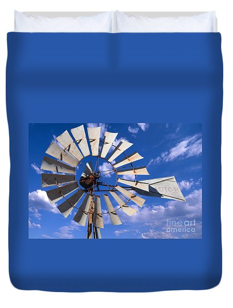 Large Windmill Duvet Cover