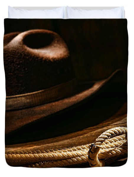 Lariat And Hat Duvet Cover
