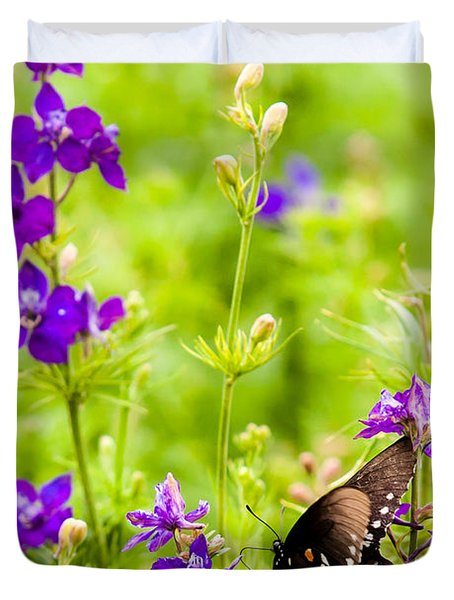 Larkspur Visitor Duvet Cover