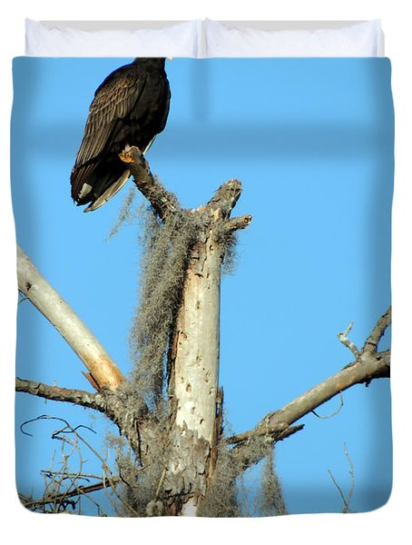 Larry Buzzard Vulture Duvet Cover