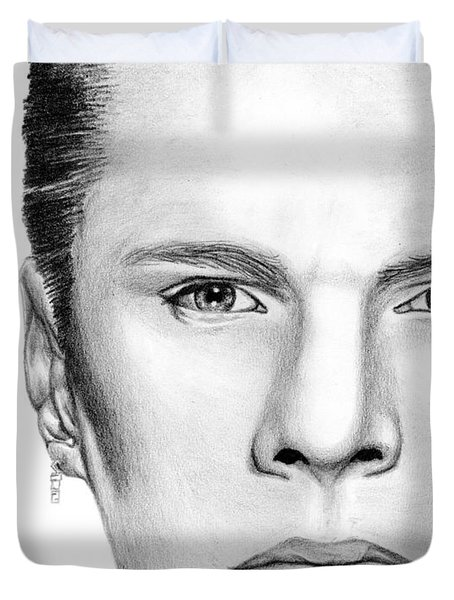 Larry Mullen Jr. Duvet Cover by Kayleigh Semeniuk
