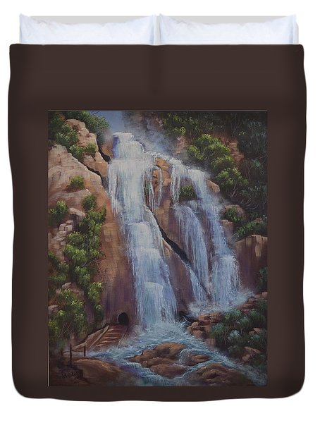 Las Brisas Falls Huatuco Mexico Duvet Cover