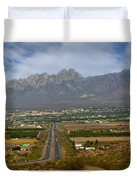 Las Cruces New Mexico Panorama Duvet Cover by Jack Pumphrey