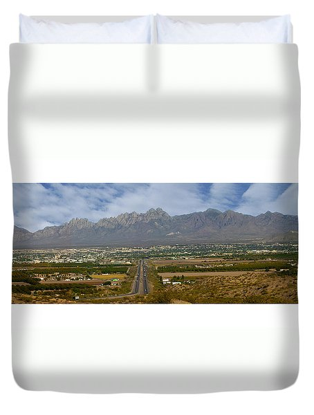 Las Cruces New Mexico Panorama Duvet Cover