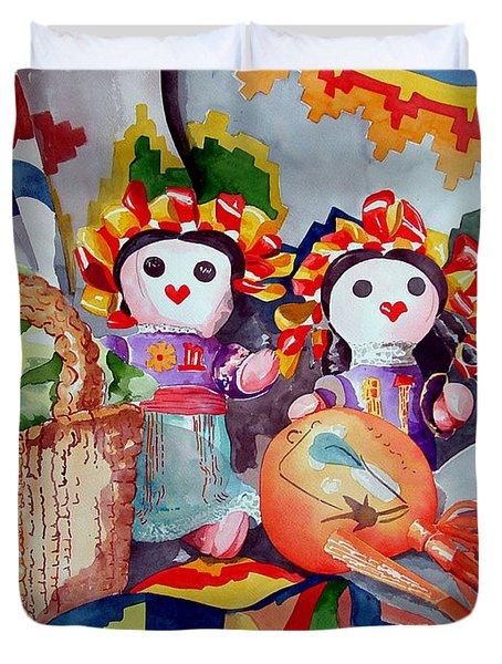 Las Muneca Chicas Duvet Cover