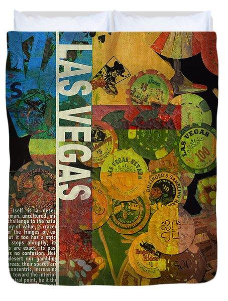 Las Vegas Compilation Duvet Cover by Corporate Art Task Force