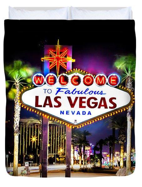Las Vegas Sign Duvet Cover