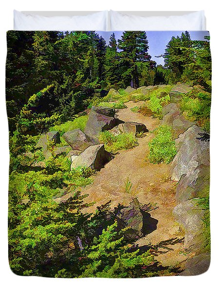 Lassen Trail-2 Duvet Cover by Nancy Marie Ricketts