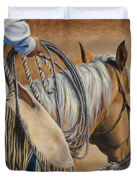 Lariat And Leather Duvet Cover