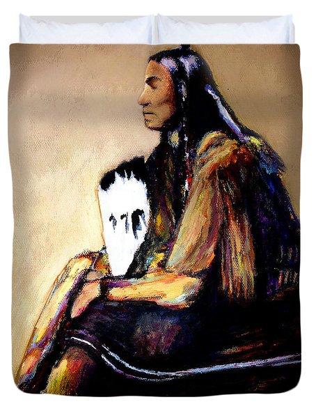 Last Comanche Chief Duvet Cover