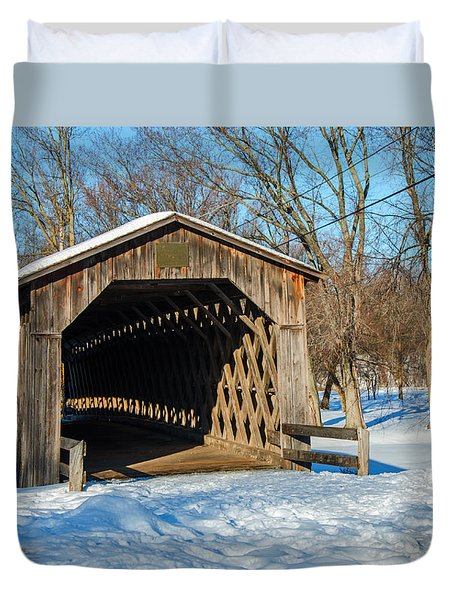 Last Covered Bridge Duvet Cover