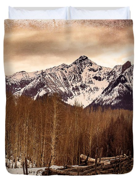 Last Dollar Road Winter Duvet Cover