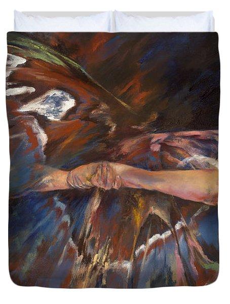 Last Flight Duvet Cover by Karina Llergo