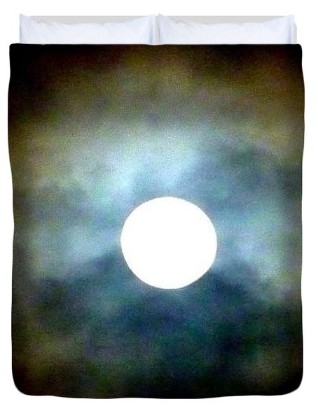 Last Full Cold Moon December 2012 Duvet Cover by Susan Garren