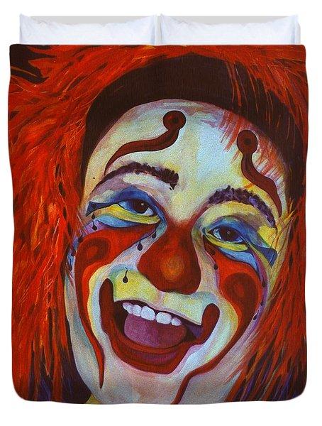 Last Laugh Duvet Cover by Carolyn LeGrand