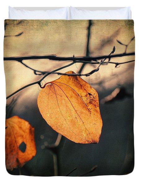 Last Leaves Duvet Cover by Taylan Apukovska