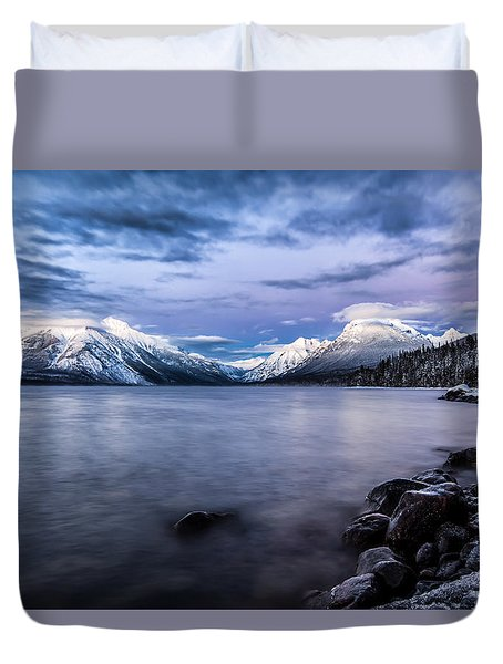 Duvet Cover featuring the photograph Last Light by Aaron Aldrich