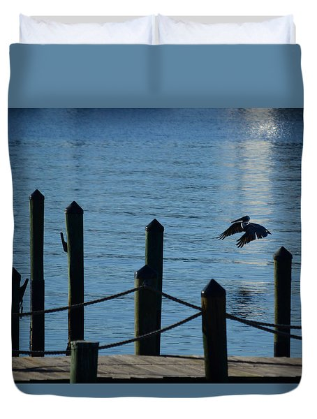 Last Light Flight Duvet Cover