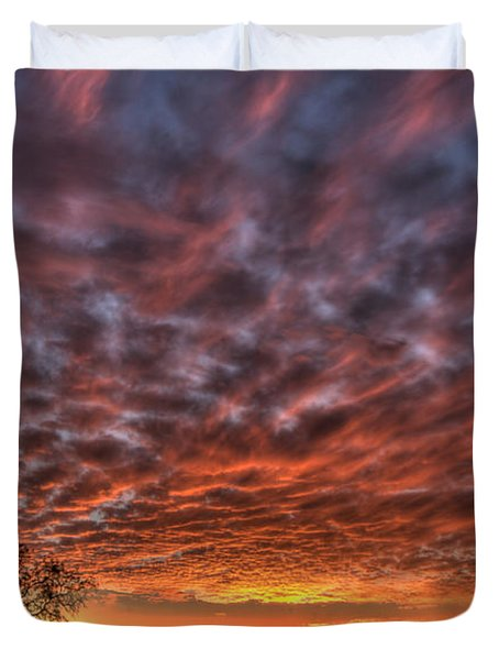 Last Light In Oracle Duvet Cover