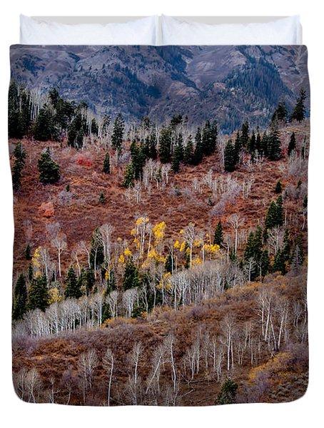 Last Of The Aspen Color Duvet Cover