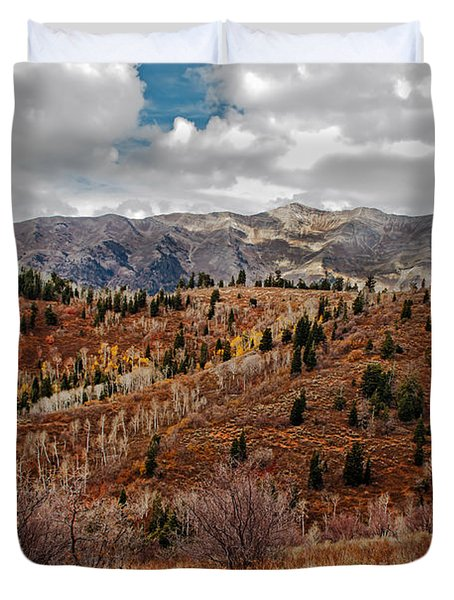 Last Of The Fall Colors In The Wasatch Range Duvet Cover