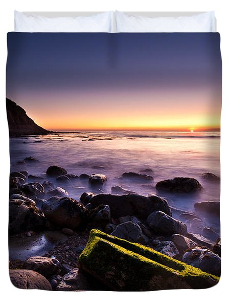 Duvet Cover featuring the photograph Last Ray by Mihai Andritoiu