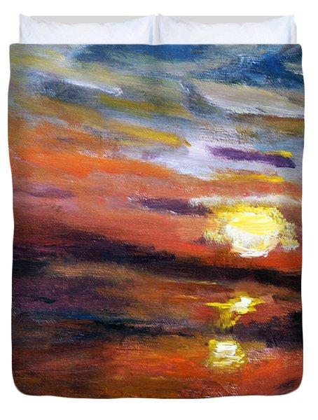 Last Sun Of Day Duvet Cover