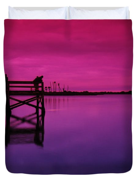 Last Sunset Duvet Cover
