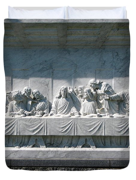 Duvet Cover featuring the photograph Last Supper by Greg Patzer