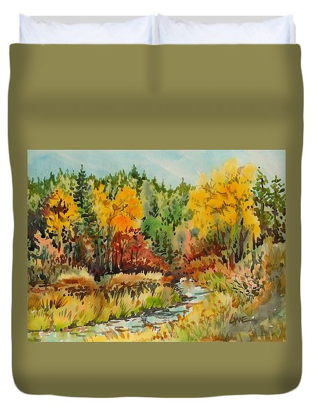 Latah Creek Fall Colors Duvet Cover