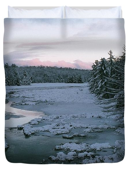Duvet Cover featuring the photograph Late Afternoon In Winter by David Porteus