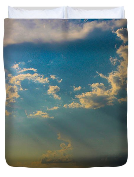 Late Afternoon Nebraska Thunderstorms Duvet Cover