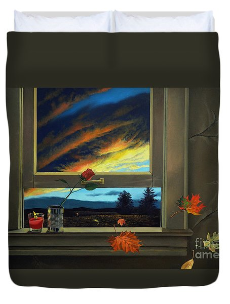 Late Autumn Breeze By Christopher Shellhammer Duvet Cover by Christopher Shellhammer