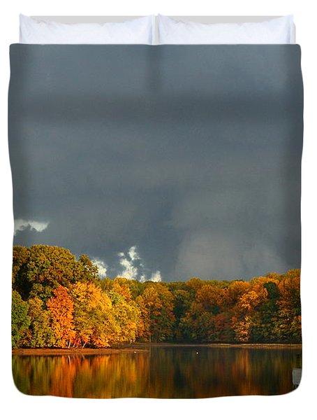 Late Autumn Storm Duvet Cover