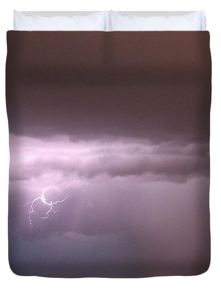 Late Evening Nebraska Thunderstorm Duvet Cover