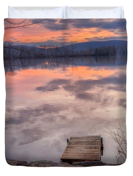 Late Fall Early Winter Duvet Cover by Bill Wakeley