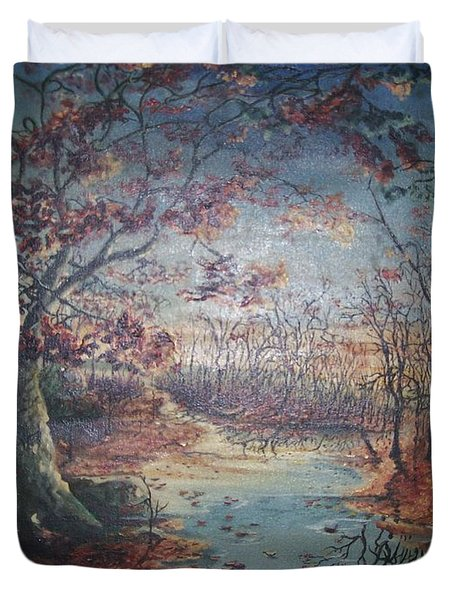 Late Fall Duvet Cover by Peter Suhocke