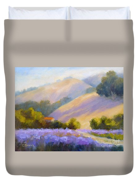 Late June Hills And Lavender Duvet Cover