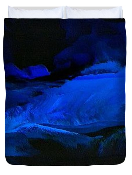 Late Night High Tide Duvet Cover